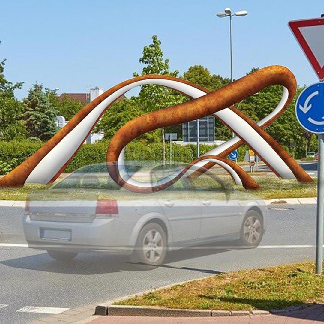 Kreisverkehr Rendering